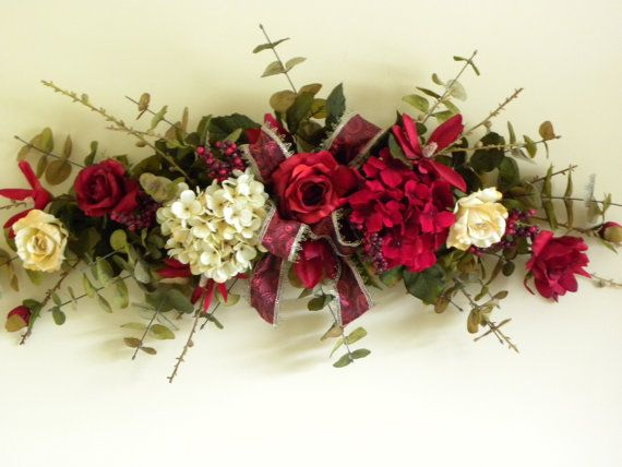Silk floral swag rose hydrangea flowers burgundy by tlgsilkfloral silk floral swag rose hydrangea flowers burgundy by tlgsilkfloral 6995 mightylinksfo