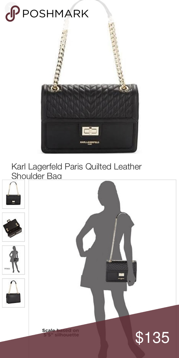bec4ff63c36a Beautiful Karl Lagerfeld shoulder bag Brand new with tags and silk bag Karl  Lagerfeld Bags Crossbody Bags