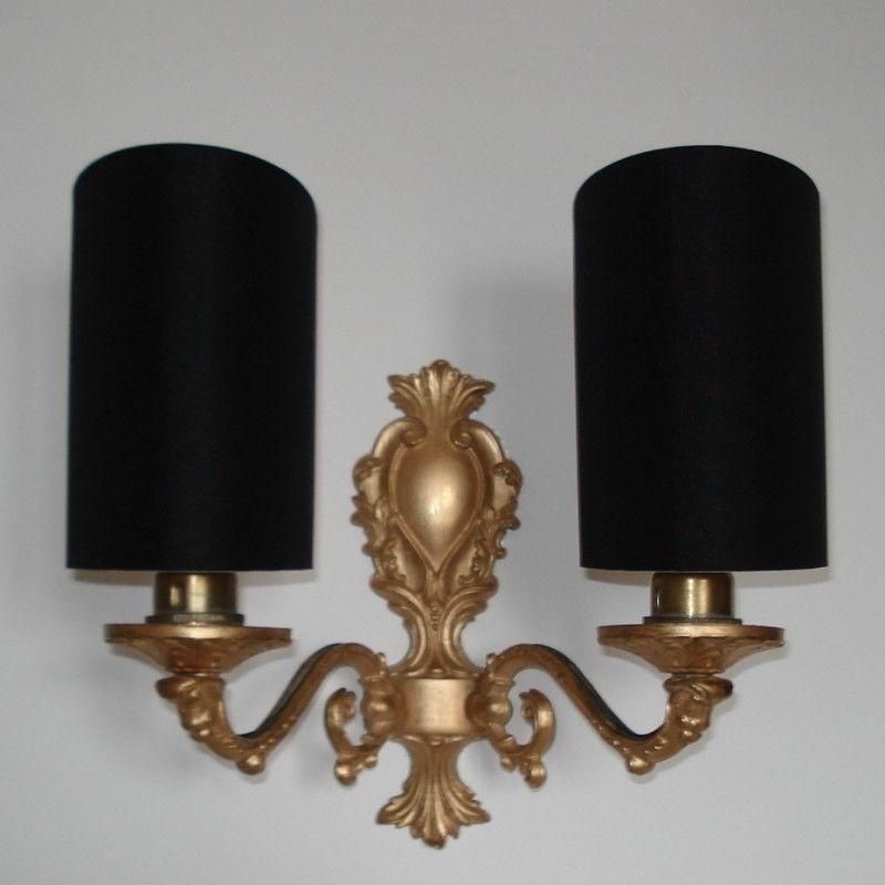 Taffeta in Black - Handmade, Candle Clip Half Shield Shade for ...