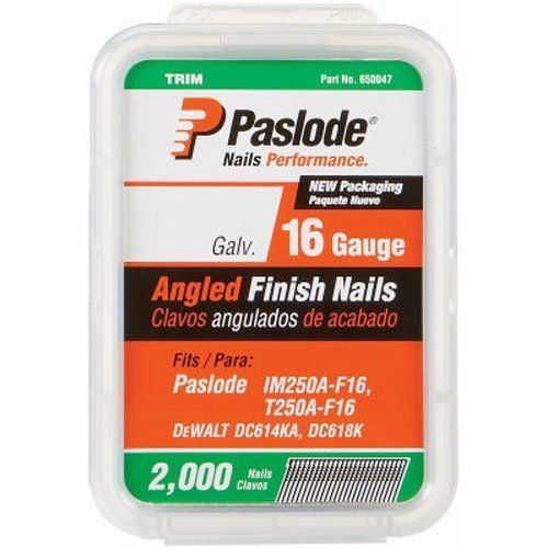 Paslode 650232 212inch By 16 Gauge 20 Degree Angled Galvanized Finish Nail 2000 Per Box For More Information Visit Image Link Note A Air Tools Finishing Nails Power Tool Accessories Nails