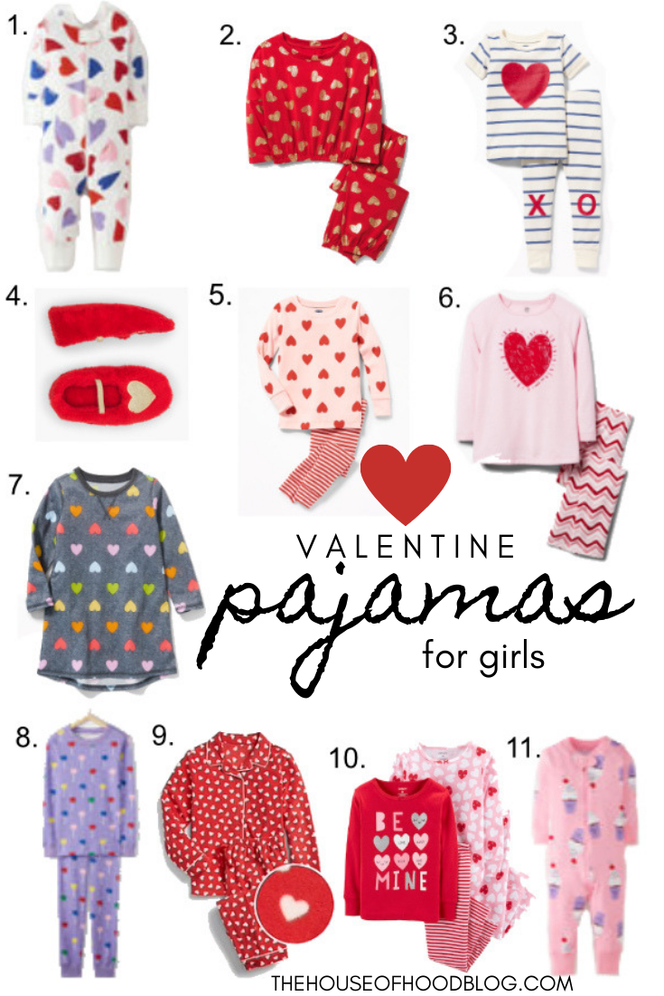 57480b2249eb Cozy and Cute Valentine s Day Pajamas for Little Girls! We ve rounded up  some of our favorites in one post.  valentinesday  valentines   valentinepajamas ...