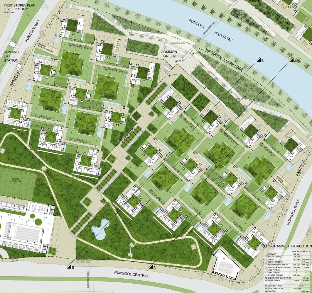 Gallery of punggol waterfront master plan housing design program 7 master plan urban Airport planning and design course