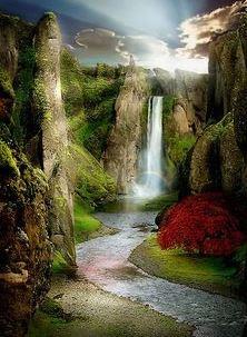 اجمل صور خلفيات شاشة من الطبيعة صور خلفيات Hd من الطبيعة صور طبيعه و مناظر طبيعية Waterfall Beautiful Nature Beautiful Landscapes