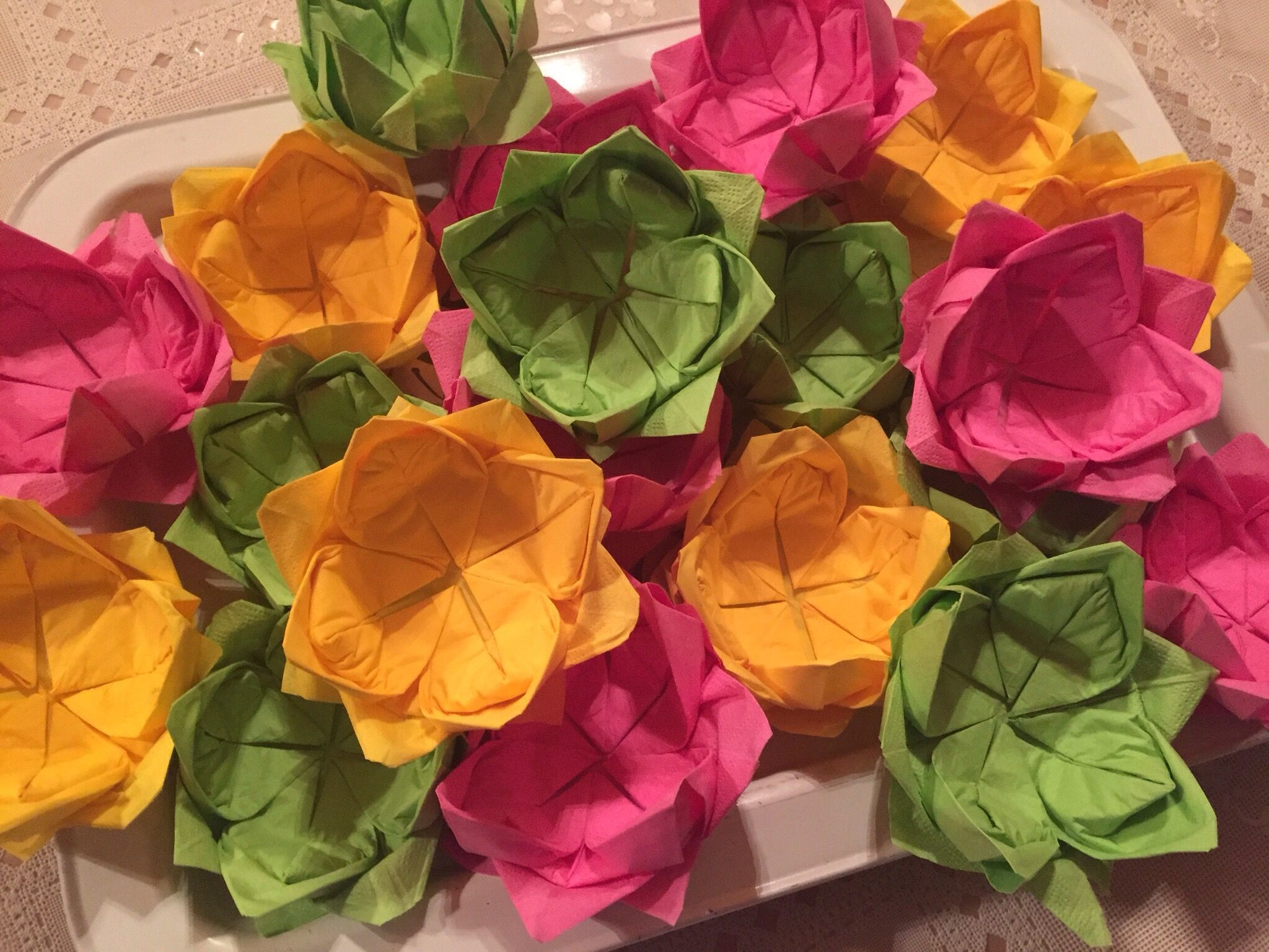 How to fold paper napkins into a lotus blossom flower lc these how to fold paper napkins into a lotus blossom flower lc these make tiny little bowls for nuts or small candies maybe paperclips or little pieces of mightylinksfo