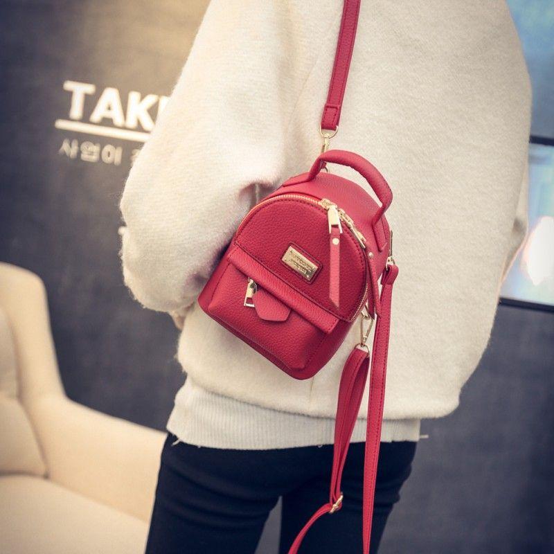 cd9245ac756 Cheap Leftside 2017 mini mochilas para niñas back bolso de cuero pu de las  mujeres pequeño bolso bastante femenino mochila bolsas femininas