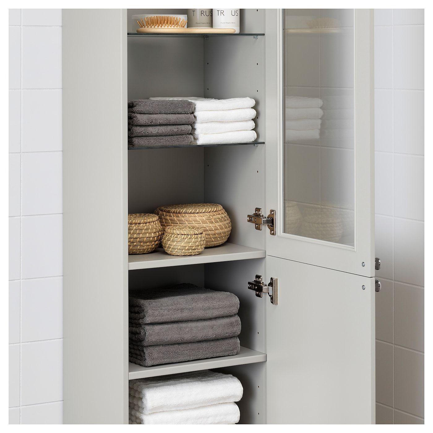 GODMORGON Hochschrank Kasjön hellgrau  Bathroom linen cabinet