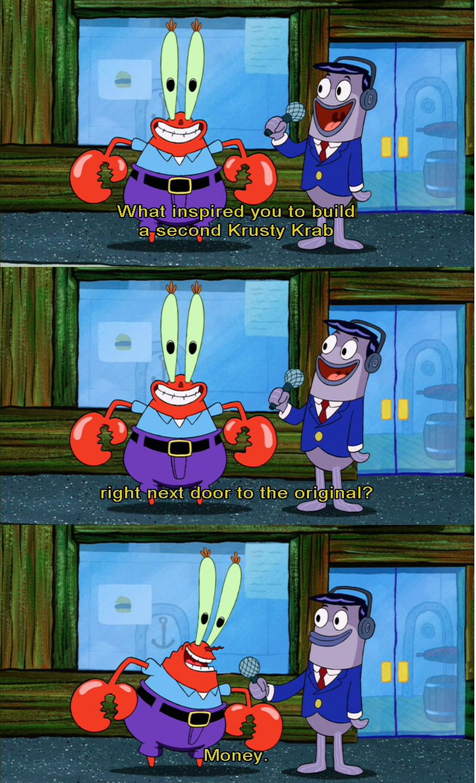 Money Spongebob Funny Quotes Funny