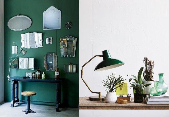 30 inspirations pour une deco en vert fonce
