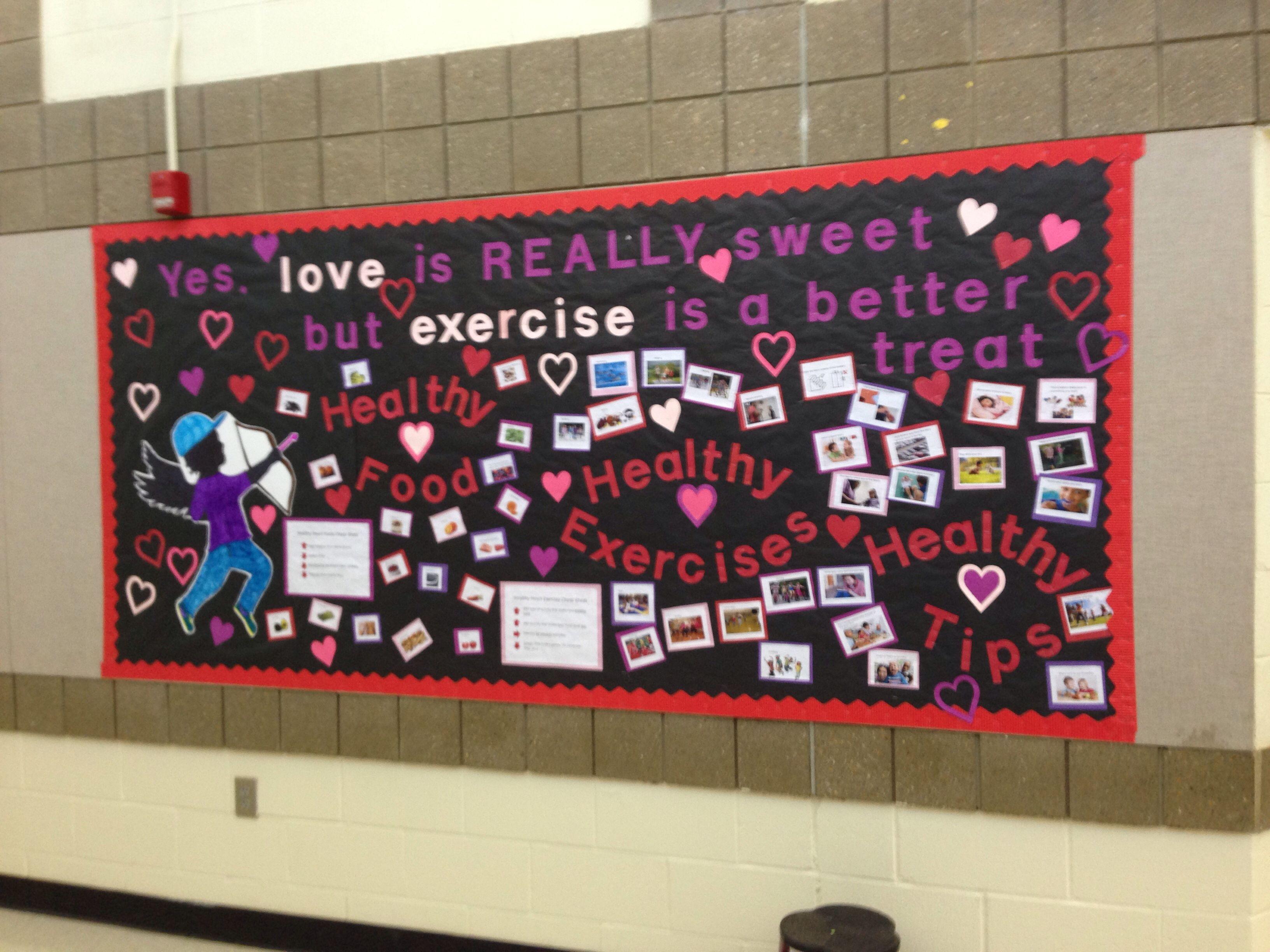 Valentines February Health And Pe Bulletin Board
