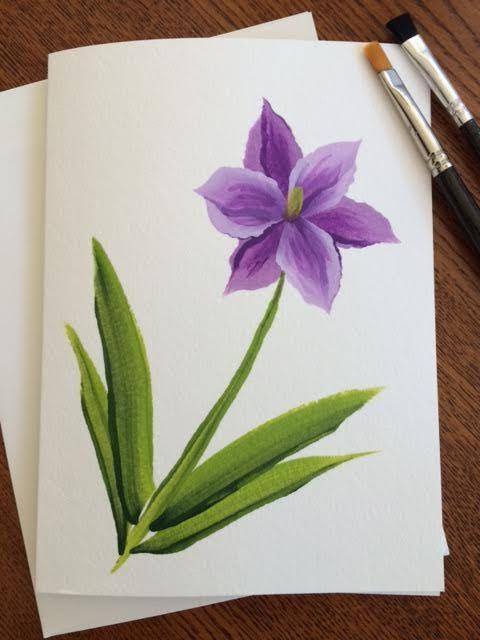 Dieses Original Handgemalte Blumen Grusskarte Wurde Mit Acrylfarbe