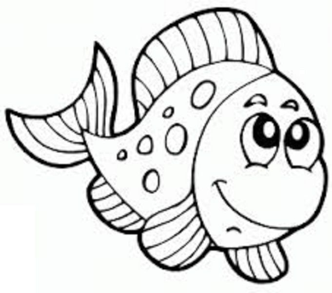 Fish Coloring Pages For Kids - Preschool and Kindergarten | Feliz ...