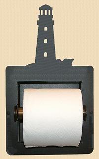 Lighthouse Toilet Paper Holder Recessed Bathroom Nautical Decor