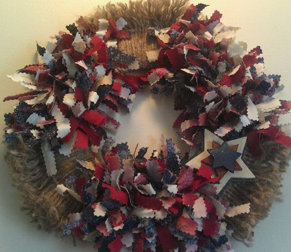 Photo of Cool wreaths for Memorial or Labor Day                          | family holiday.net/guide to family holidays on the internet