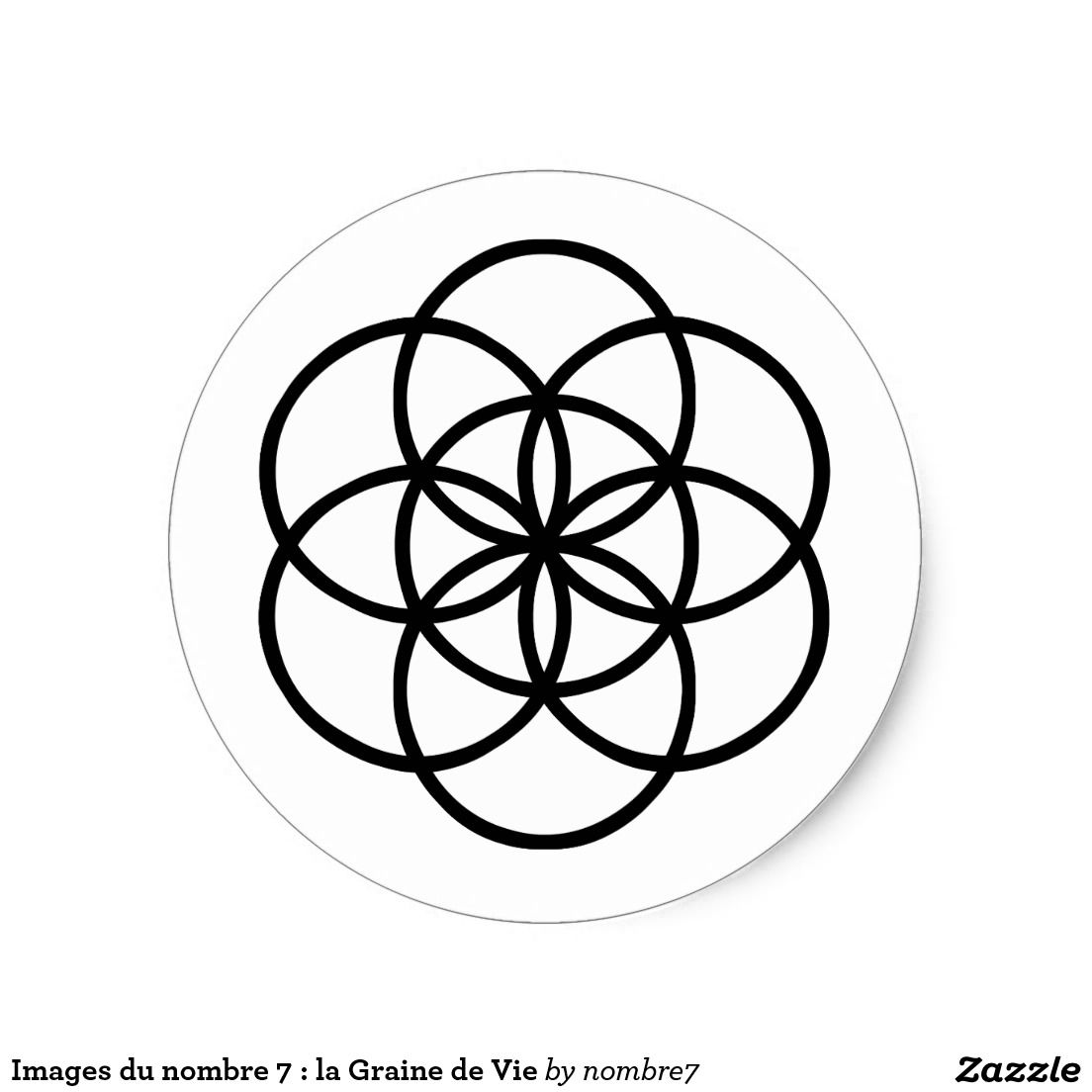 Sticker Rond Images Du Nombre 7 La Graine De Vie Zazzle Fr Graine De Vie Graine La Vie
