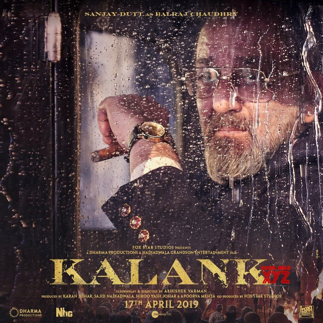 Sanjay Dutt New Poster From Kalank - Social News XYZ   New ...
