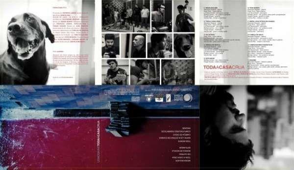 / Encarte do disco Toda a Casa Crua, da banda Lemoskine