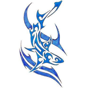 Blue Shark Tattoo Design With Images Tribal Shark Tattoos