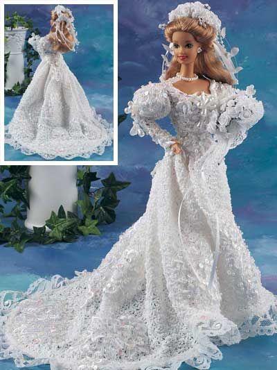 robes de mariée pour Barbie | Barbie | Pinterest | Barbie, barbies ...