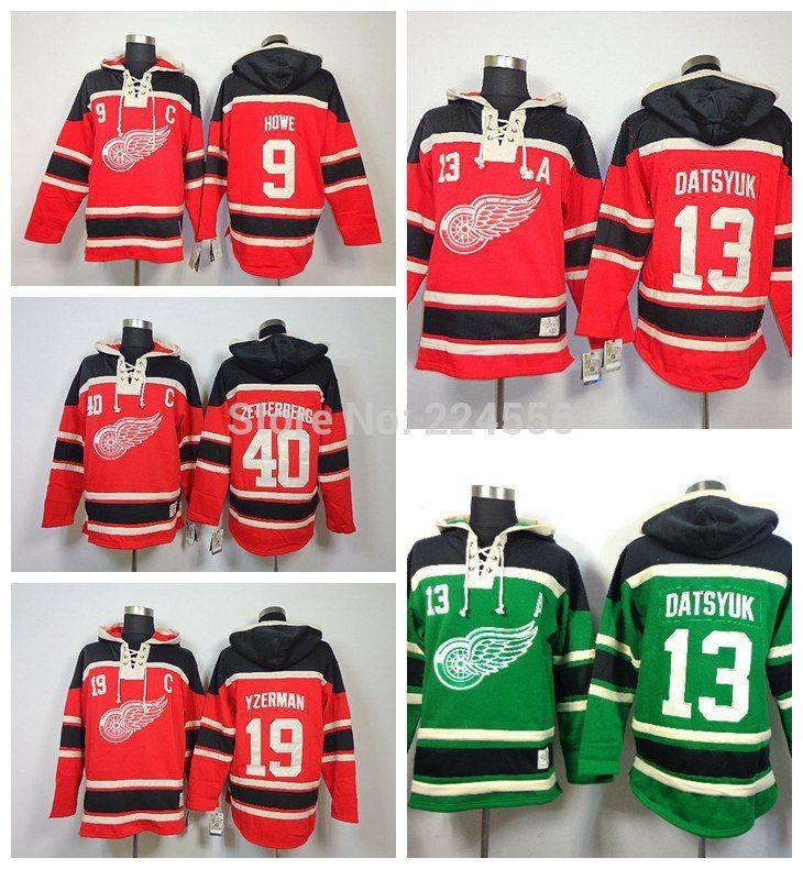 Find More Sports Jerseys Information about Detroit 13 Pavel Datsyuk 40  Henrik Zetterberg 19 Steve Yzerman 9 Gordie Howe C A Patch NHL Hockey  Hoodies SPORT ... d4d5a8f73