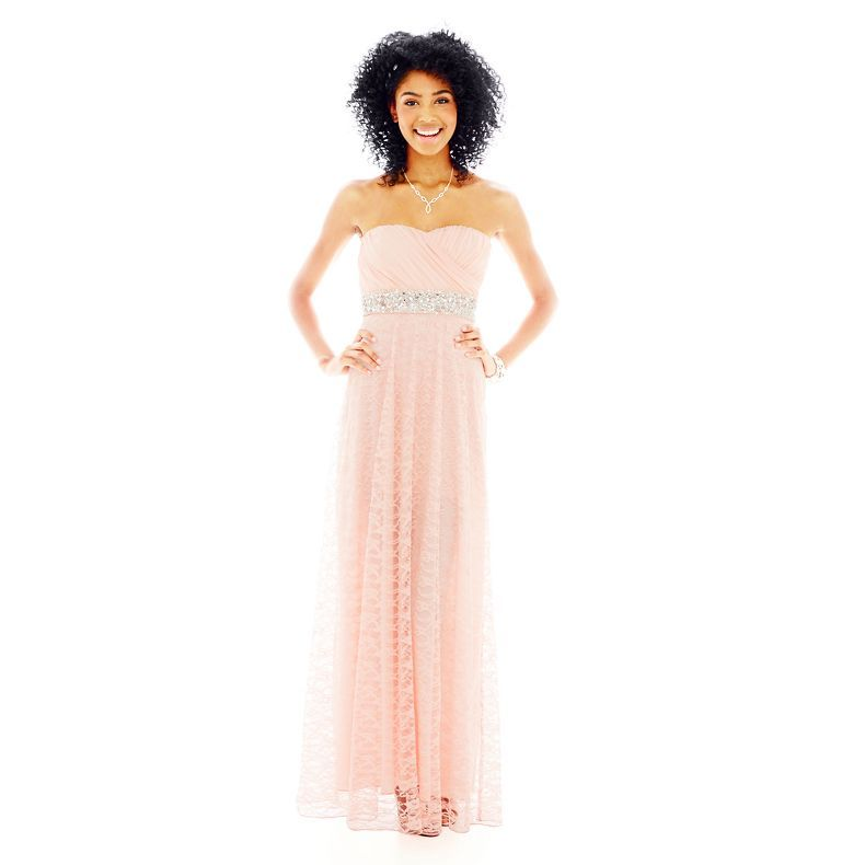 jcpenney - My Michelle® Sweetheart Lace-Skirt Long Dress - jcpenney ...