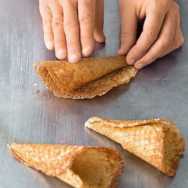 Extra crispy ice cream cones