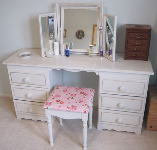 My old pine dressing table set painted with annie sloan