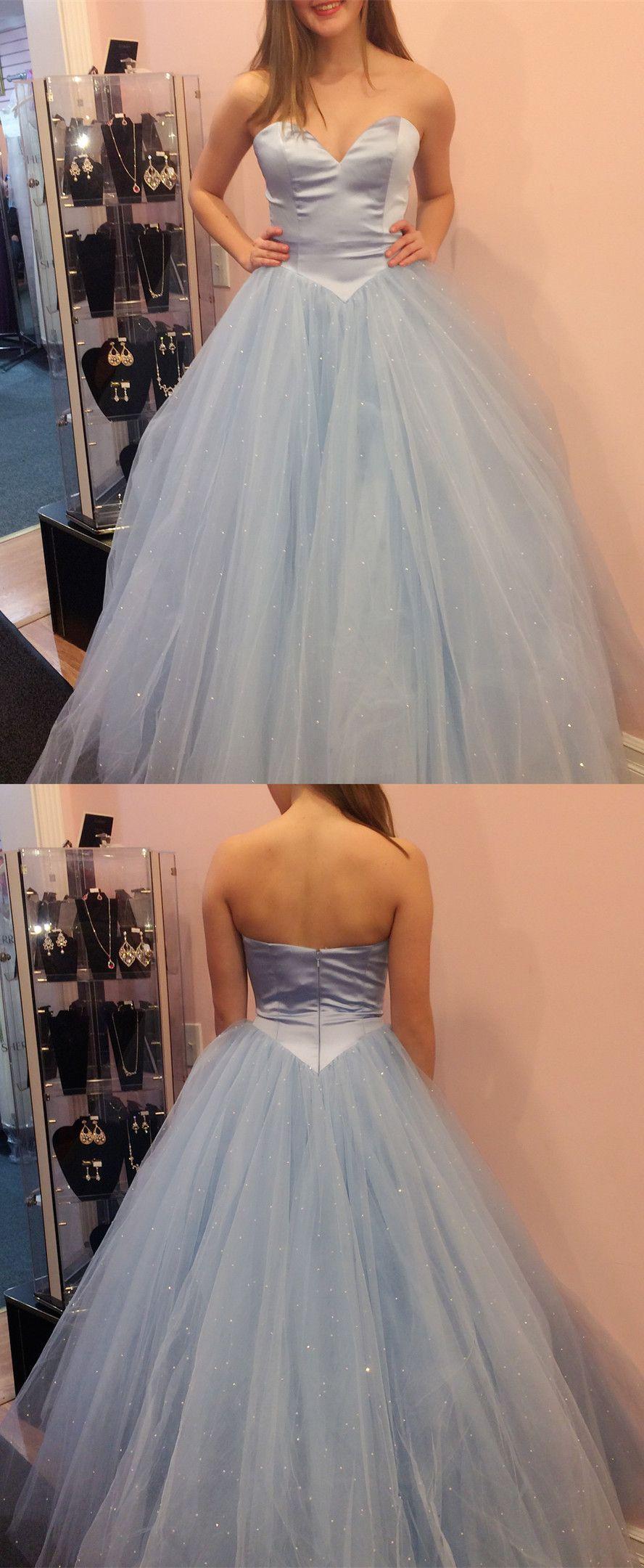 Princess sweetheart bluepink long ball gown formal dresses