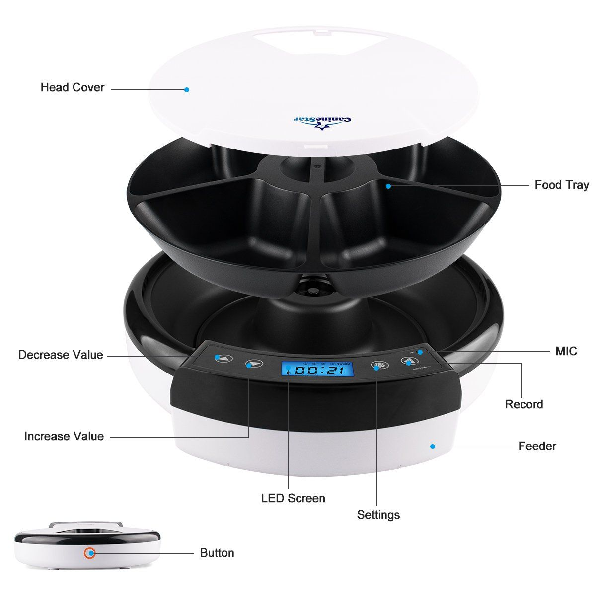 Caninestar automatic pet feeder pet dish with intelligent