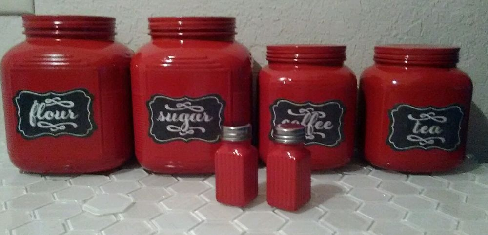 awesome Vintage Looking Canister Sets Part - 8: Vintage Looking Farmhouse Style Canister Set