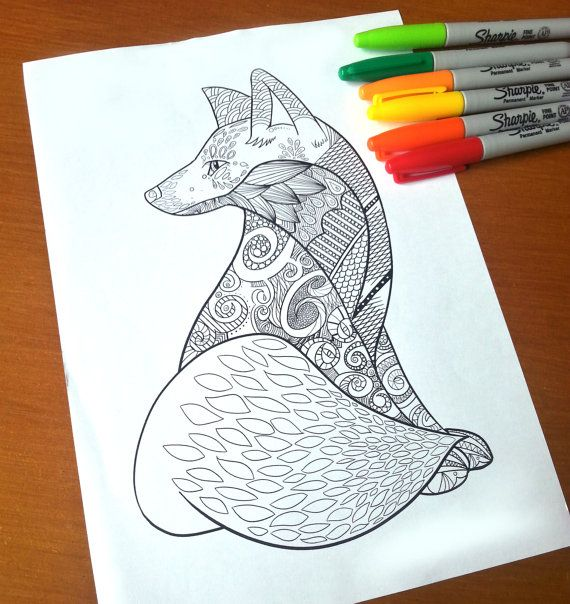 Fox Adult Coloring Picture
