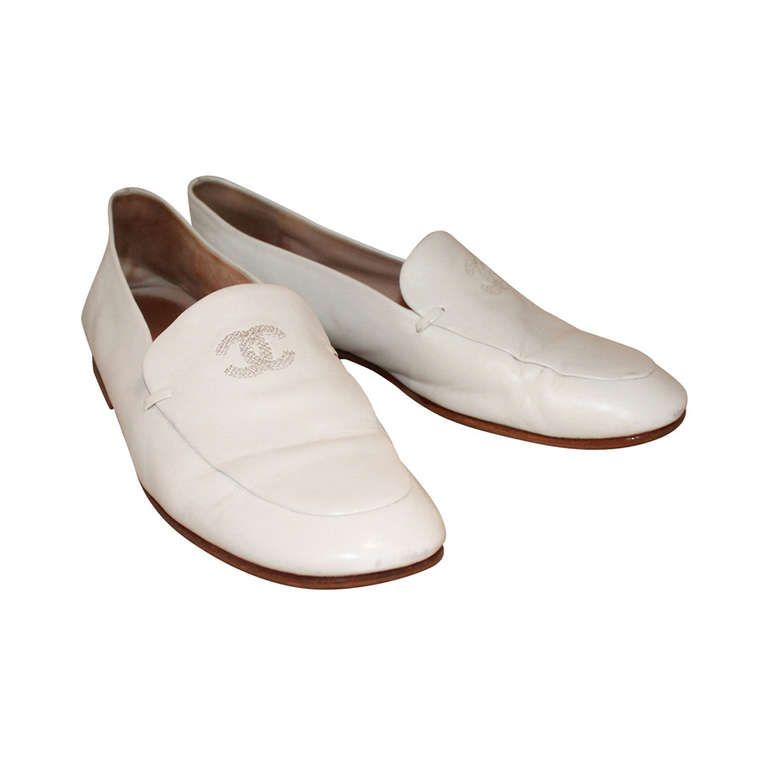Chanel White Loafers - 36 | Loafers