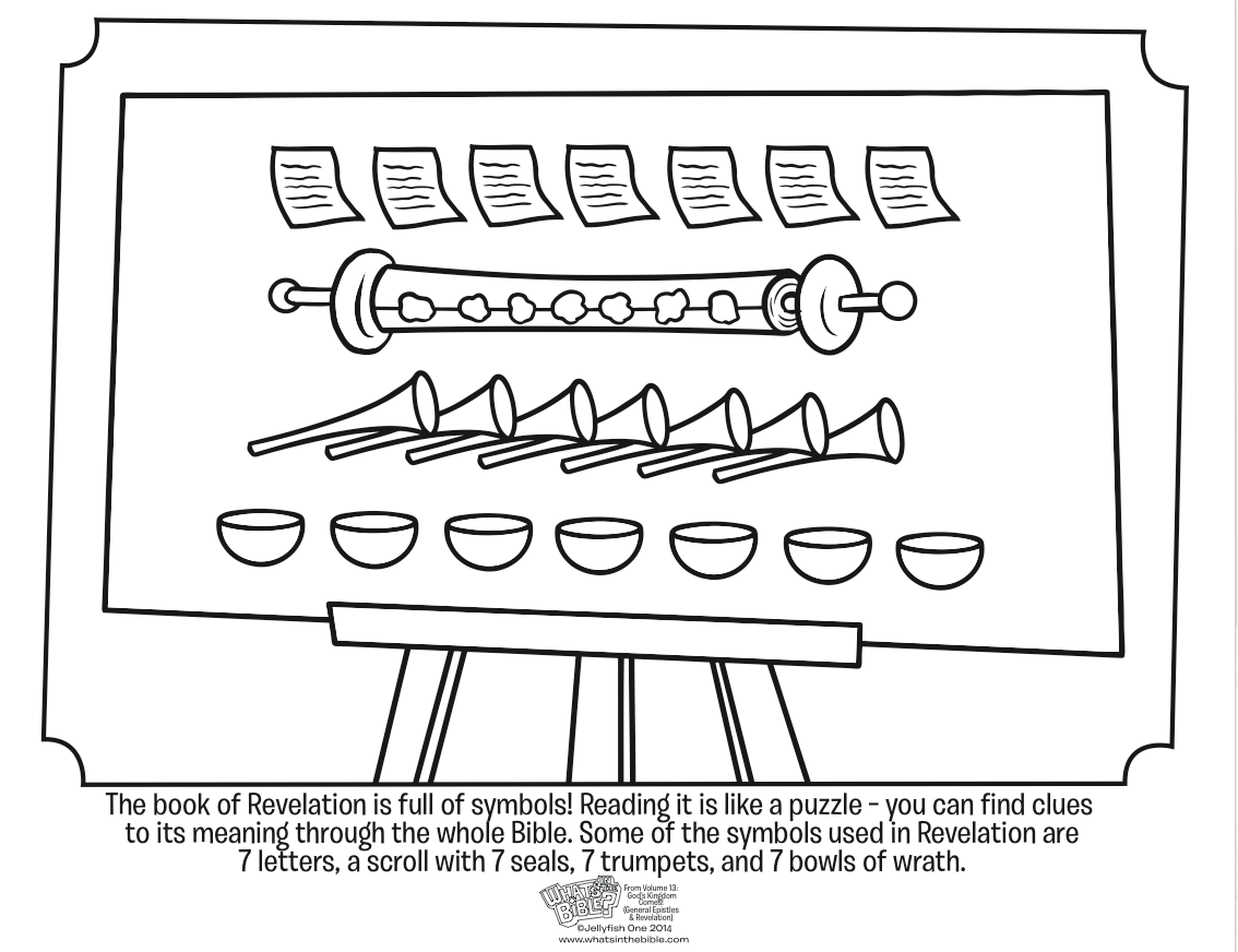 Coloring pages 7 sacraments - Symbols In Revelation Coloring Page