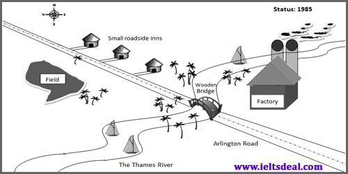 IELTS Writing Task 1: Diagram writing; two maps showing