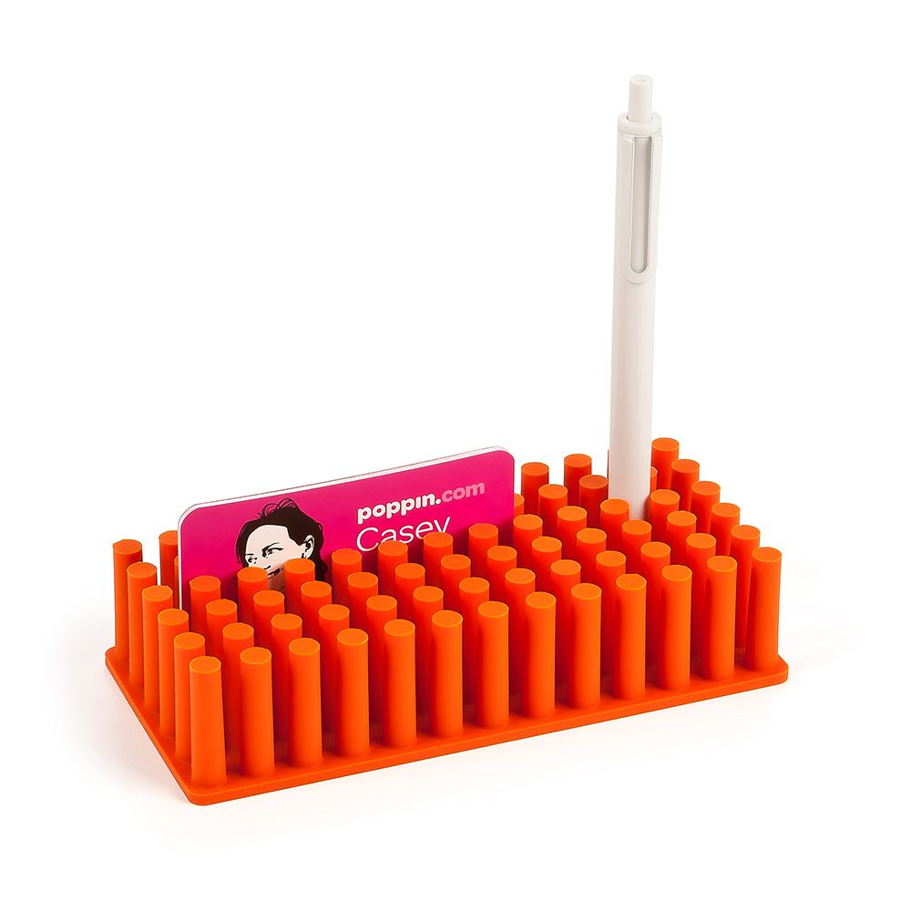 Orange Softie Grip Grass | Pen Holders | Poppin