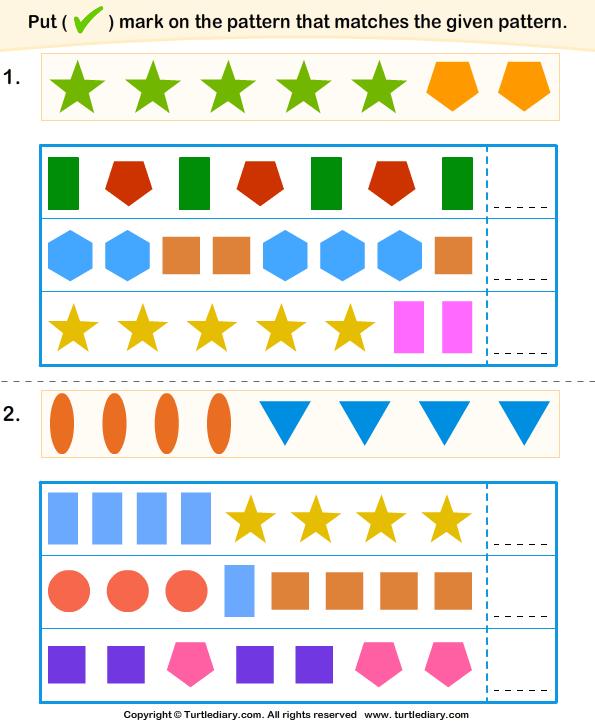 similar pattern games on attention pattern worksheet pattern repeating. Black Bedroom Furniture Sets. Home Design Ideas