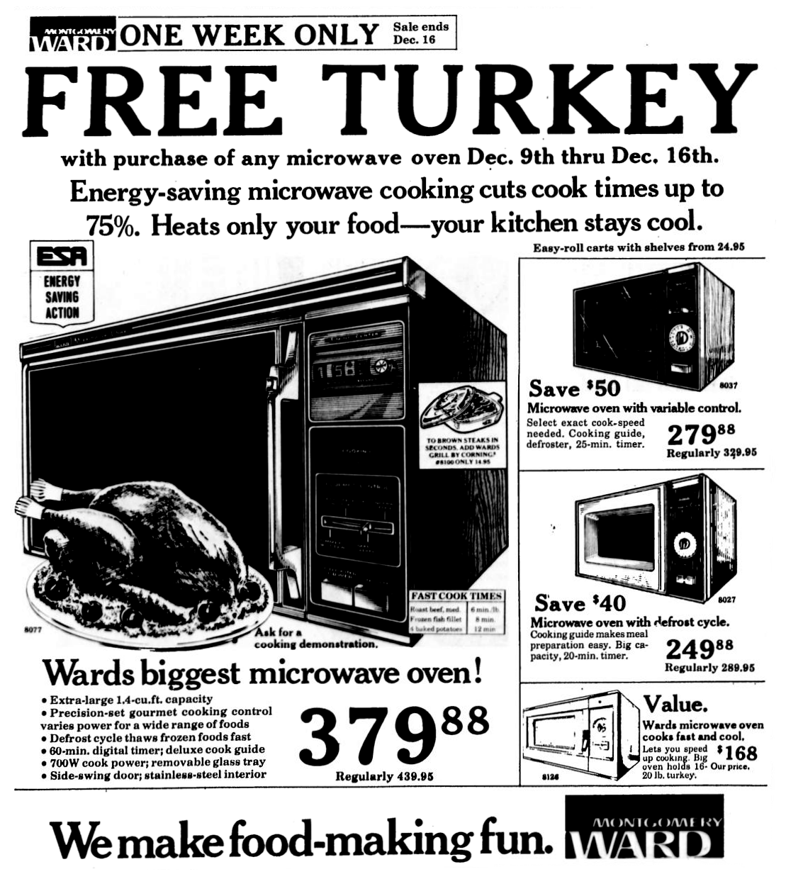 Montgomery Ward Microwave Ovens