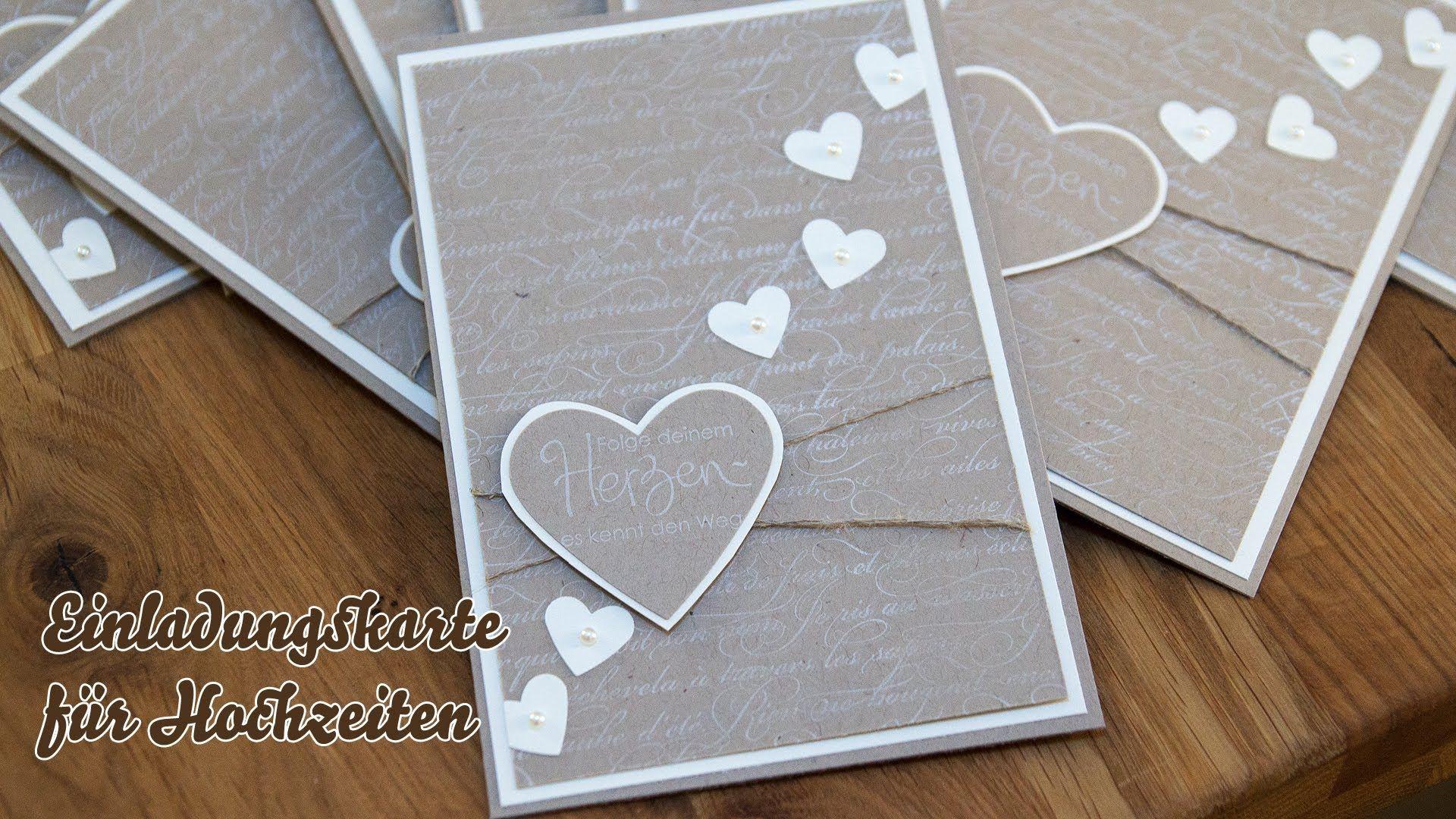 Tutorial   Hochzeitseinladungen Selber Basteln   Herzen, Via YouTube. Die KarteHochzeit  KartenEinladungskarten ...