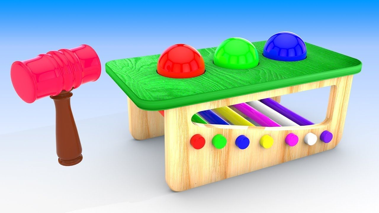 Learn Colors for Children with Wooden Toy Set Fun World 3D Kids ...