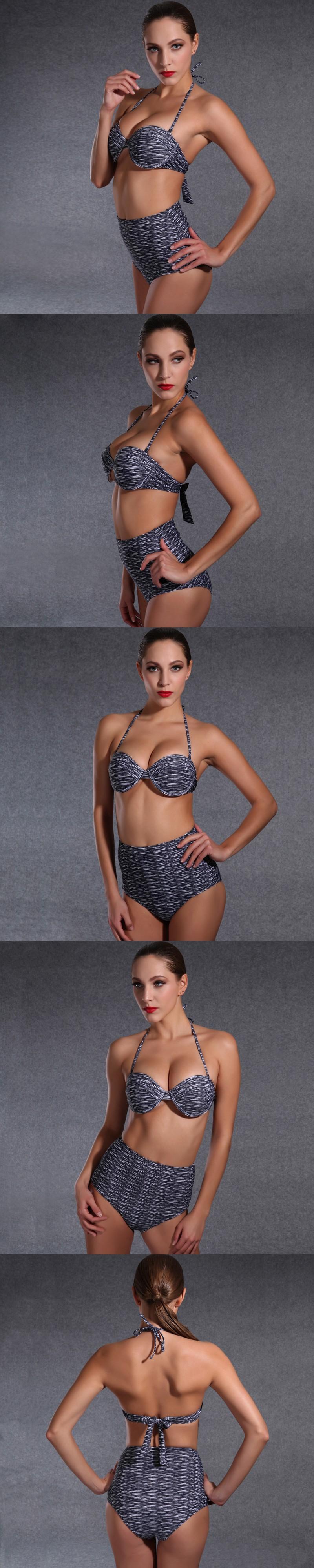 High Waist Brazilian Bikini SwimsuitWomen Push Up Swimwear Vintage Retro Floral Bathing Suit Beach Wear $15.27