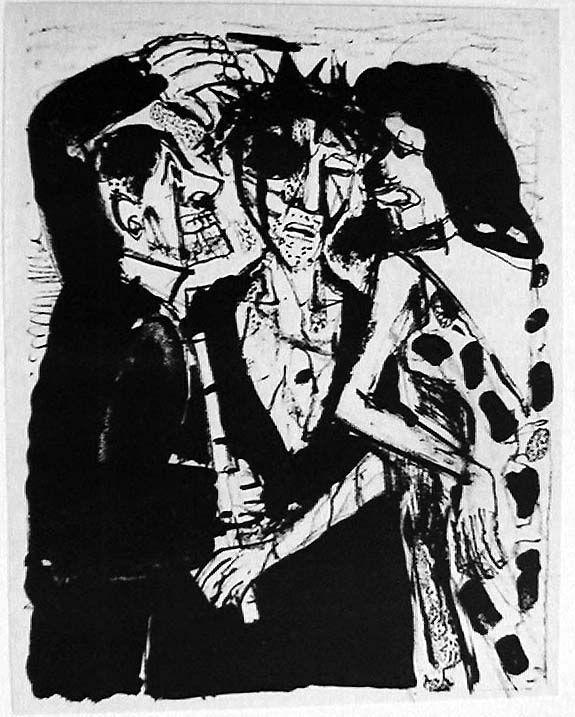 Otto Dix (German, 1891-1969): Christ Mocked
