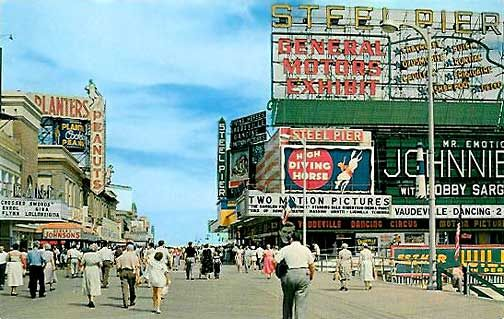 New Jersey Atlantic City 1950 S Atlantic City Nj Beaches Atlantic City Boardwalk