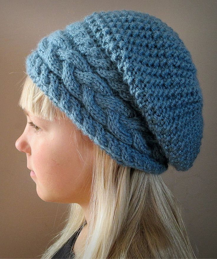 Knitting Pattern For Stillness Of Winter Hat Ad Slouchy Hat In