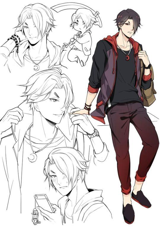 Monsohot Character Art Art Reference Poses Anime Poses