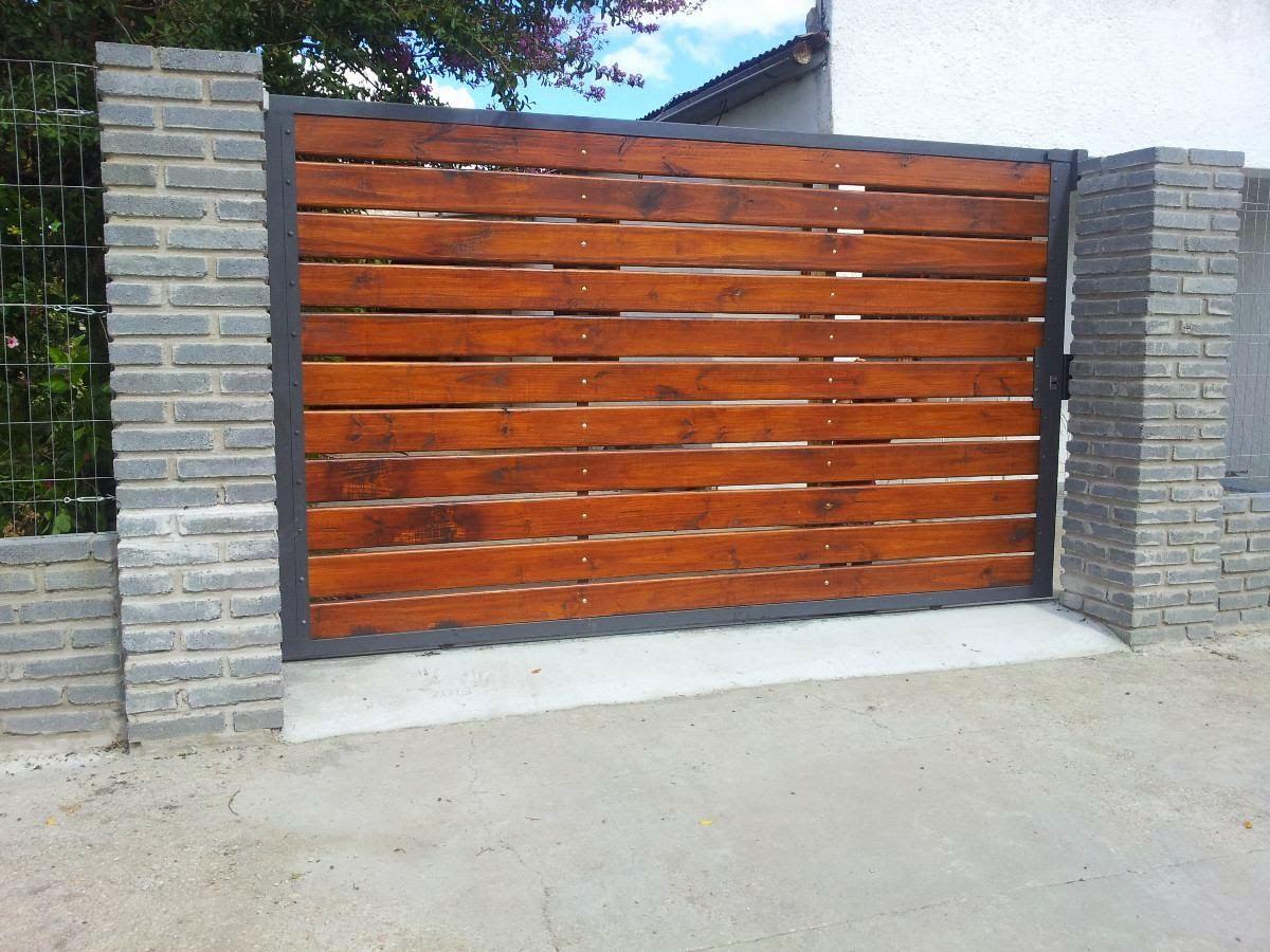 Portones de madera buscar con google ideas para casa for Portones de madera exterior
