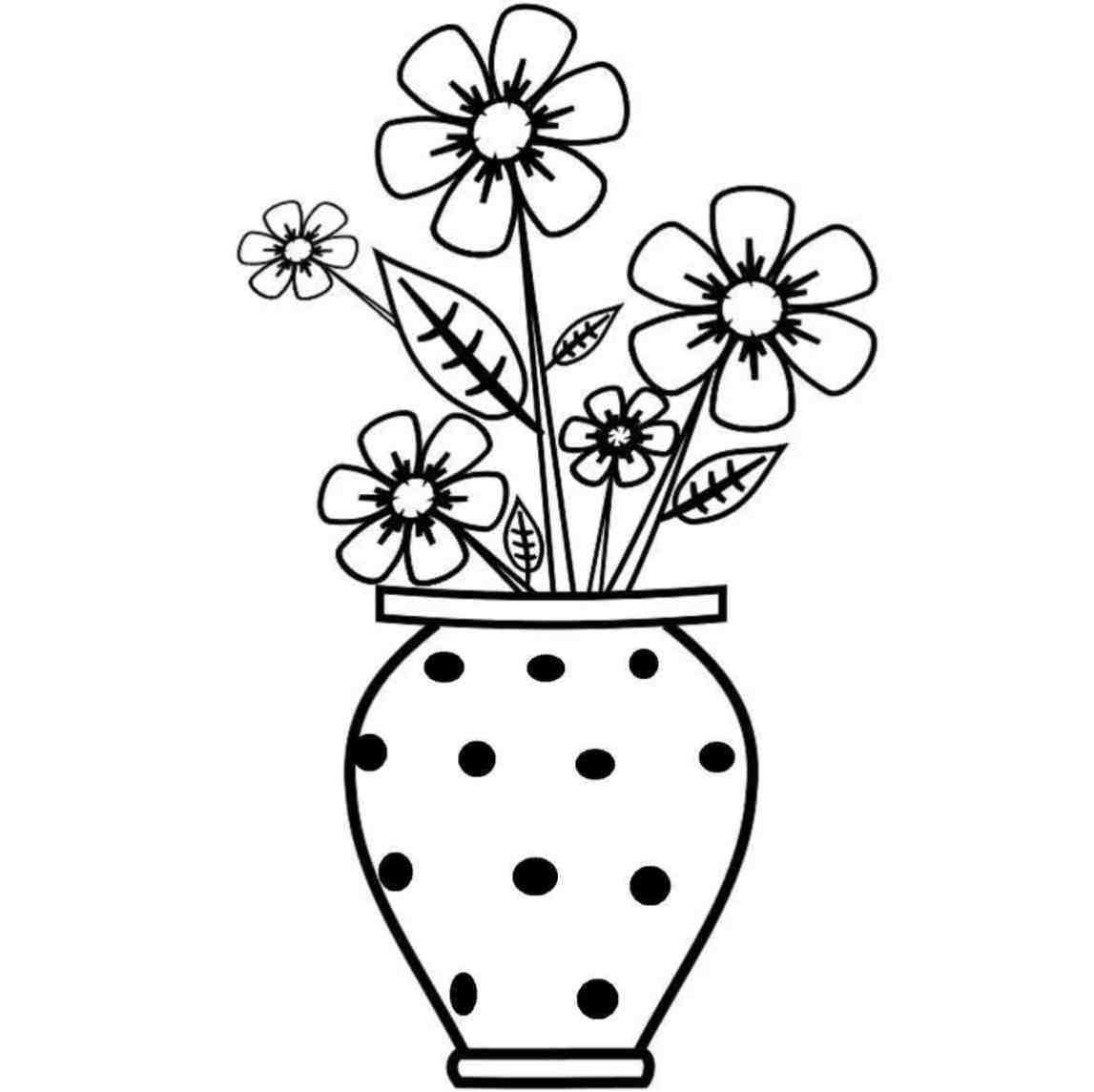 Flower Drawings For Kids Paijo Network Flower Drawing For Kids Easy Flower Drawings Flower Vase Drawing