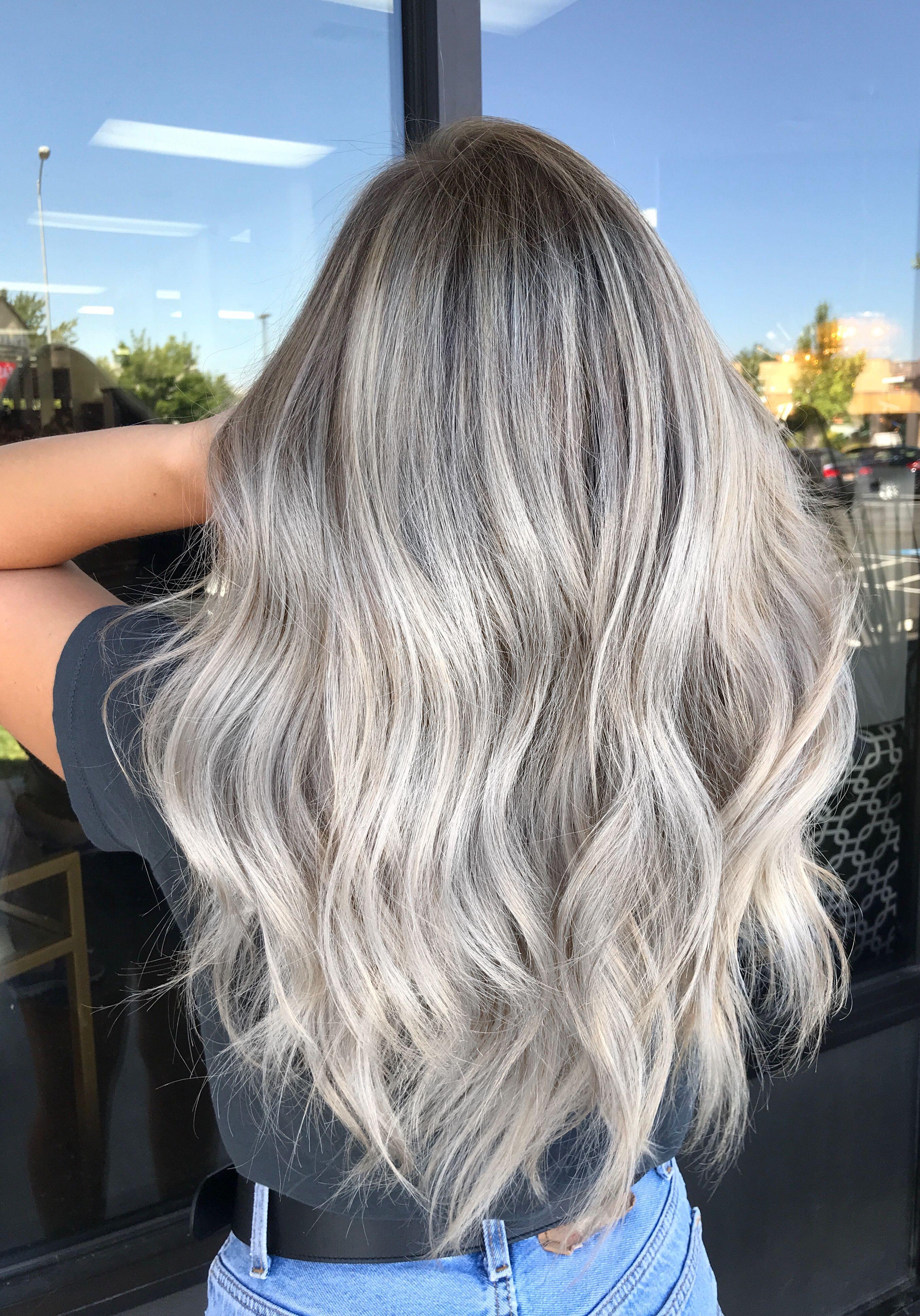 Silver Blonde Hair Icy Blonde Kathy Nunez Hair In 2019