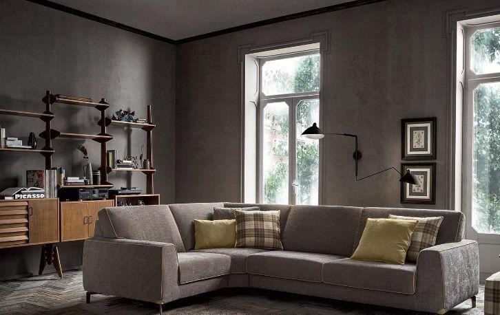 Rifoderare Divano ~ Divano angolare in tessuto color tortora divani