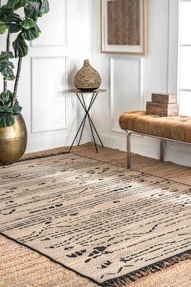 Rancherio Abstract Treasure Indoor Outdoor Black Rug In 2021 Rugs Usa Contemporary Rugs Indoor Outdoor Rugs
