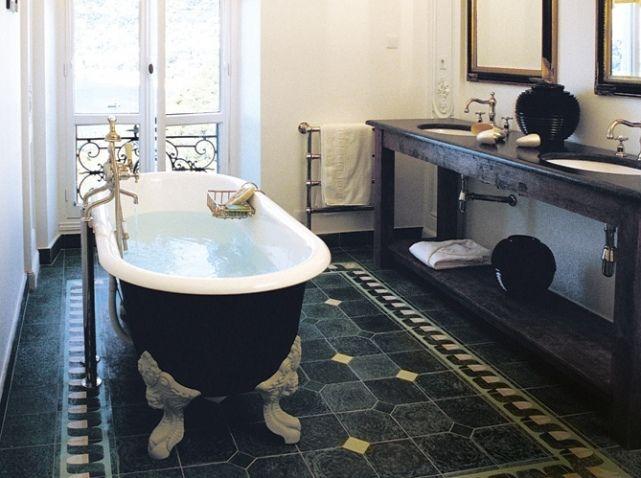 Tendance : les salles de bains à l\'ancienne - Elle Décoration in ...