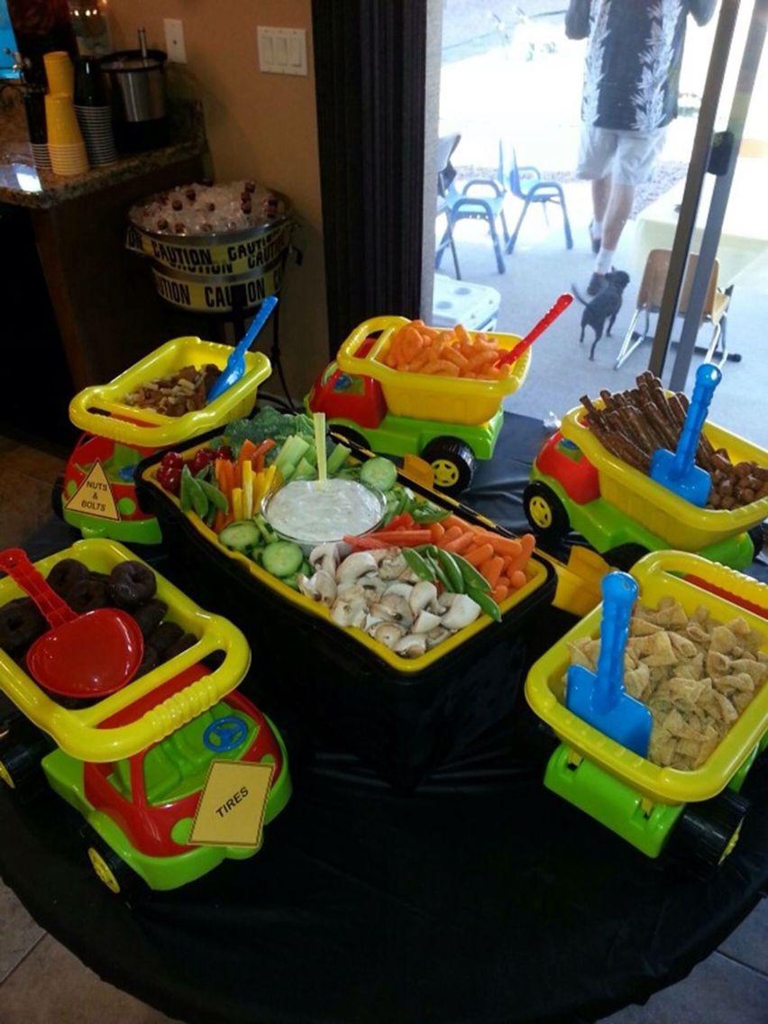 Tonka Truck Trays For A Boy Baby Shower Birthday Construction